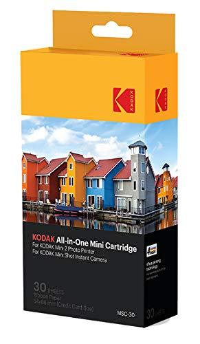 Kodak Mini 2 Photo Printer Cartridge MC All-in-One Paper and Color Ink Cartridge Refill – Compatible with Mini Shot Camera, Mini 2 Printer Not Original Mini 30 Pack