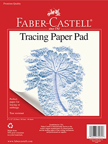 40 Sheets 9 x 12 inches – Faber-Castell Tracing Paper Pad