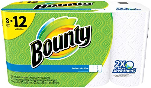 8 Pack – Bounty Select-A-Size Paper Towels, White, Giant Roll