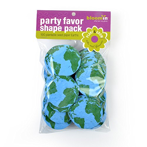 Earth Shapes – 100 Shapes Per Pack – 2.1″ {Blue Green} – Bloomin Seed Paper Shapes Packs