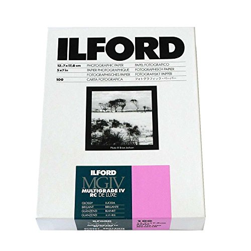 Ilford Multigrade IV RC Deluxe MGD.1M Black and White Variable Contrast Paper 5 x 7 Inches, Glossy, 100 Sheets 1769900