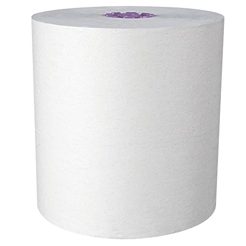 Scott Essential High Capacity Hard Roll Paper Towels 02001, Fast Change with Scott Essential Dispenser, Unperforated, White, 950' / Roll, 6 Rolls / Case, 5,700' / Case