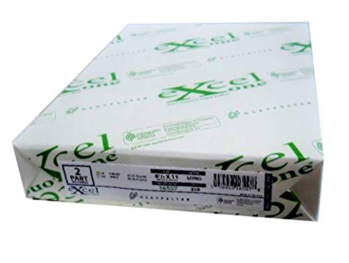 Carbonless Paper 2-part 1 Ream / 500 Sheets 250 Sets Bright White / Canary 8 1/2 X 11 by Excel Glatfelter