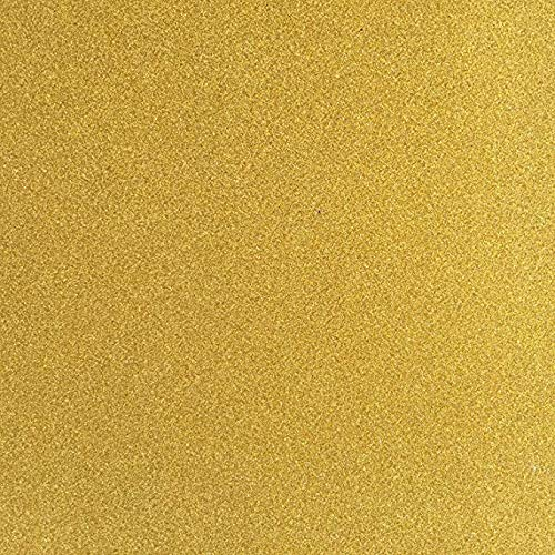 TooMeeCrafts 12-Inch by 12-Inch Glitter Cardstock, Gold Color,Pack of 10 Gold