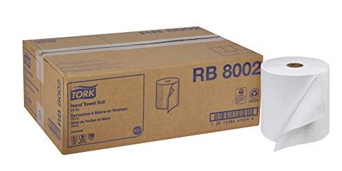 Tork Universal RB8002 Hardwound Paper Roll Towel, 1-Ply, 7.87″ Width x 800′ Length, White Case of 6 Rolls, 800 per Roll, 4,800 Feet