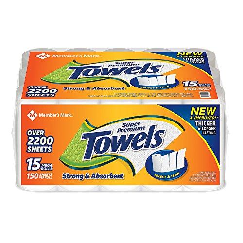 Member's Mark Super Premium Paper Towels 15 rolls, 150 sheets per roll