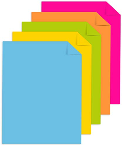 """MORE SHEETS! 91630 – Astrobrights Mega Collection 320 Sheets, 65 lb/176 gsm,""""Classic"""" 5-Color Assorted Cardstock, 8 ½ x 11"""