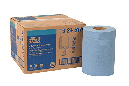 Tork 132451A Industrial Paper Wiper, Centerfeed, 4-Ply, 10.0″ Width x 249′ Length, Blue Case of 4 Rolls, 190 per Roll, 760 Wipers per Case