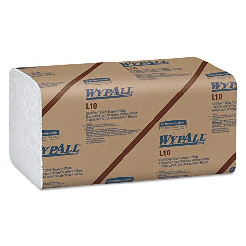 WypAll 01770 L10 SANI-PREP Dairy Towels, Banded, 1-Ply, 10 1/2 x 9 3/10, 200 per Pack Case of 12 Packs