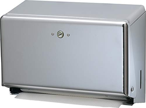 San Jamar T1950XC Mini C-Fold/MultifoldCommercial Towel Dispenser, 250 Multifold / 150 C-Fold Towel Capacity, Chrome