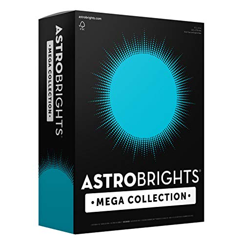 MORE SHEETS! 91628 – Astrobrights Mega Collection 320 Sheets, 65 lb/176 gsm, Bright Blue Colored Cardstock, 8 ½ x 11