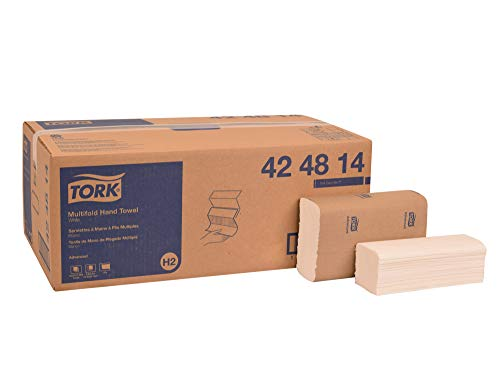 Tork 424814 Advanced Multifold Paper Hand Towel, 3-Panel, 1-Ply, 9.0″ Width x 9.5″ Length, White Case of 16 Packs, 250 per Pack, 4,000 Towels per Case