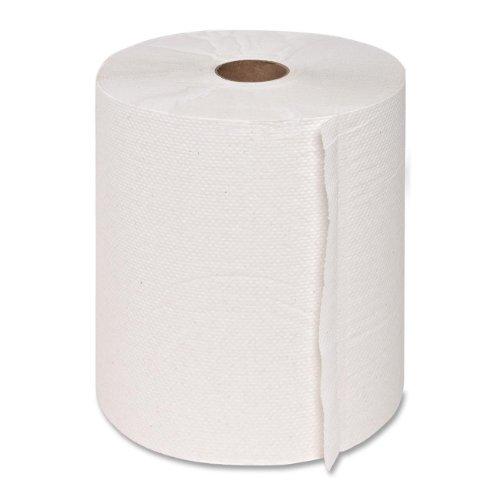 Genuine Joe GJO22700 Hard Wound Roll Towel, 800′ Length x 7-8/9″ Width, White Case of 6