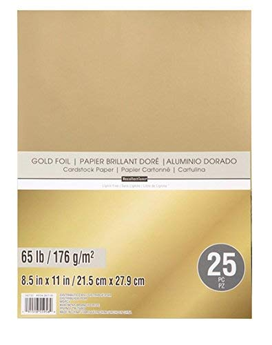 Recollections Gold Foil 65lb Cardstock Paper Single