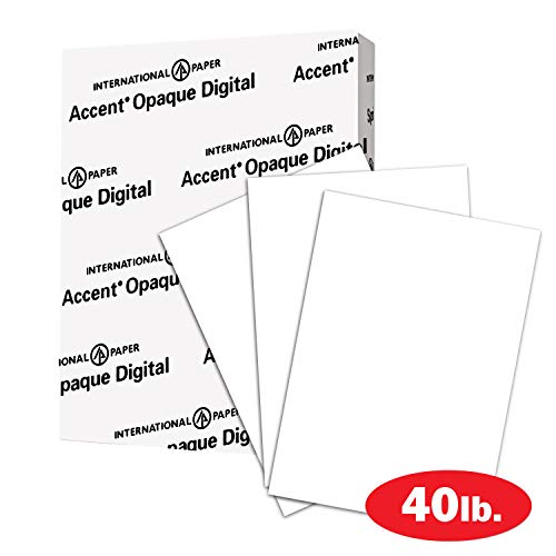 Smooth, Text Heavy Paper – Accent Opaque 40lb White Paper, 100lb Paper Text, 148gsm, 8.5 x 11, 97 Bright, 1 Ream / 250 Sheets