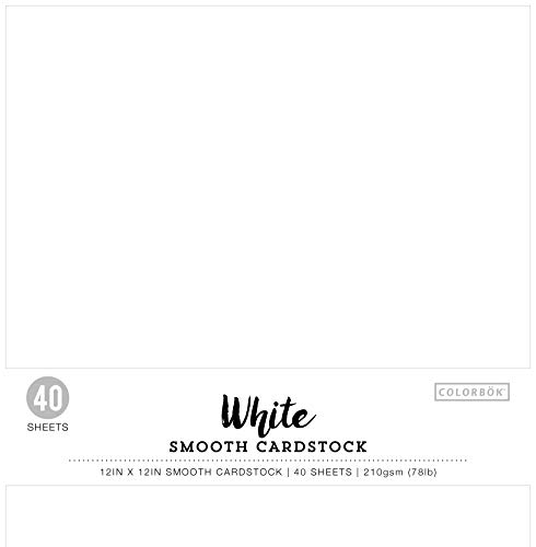 Colorbok 74292 12x12in Smooth Cardstock White