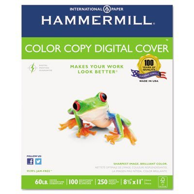 Same formulation as the Hammermill Color Copy Paper to ensure your signs or presentation covers look consistently great from start to finish. – Sold As 1 Pack – Specifically formulated for high-speed digital color copiers and laser printers. – Cover Stock, 60lb, 98 Brightness, Letter, White, 250 Sheets – Certain to create a vivid first impression. – Hammermill – Guaranteed for use in equipment that accepts cover weight papers. – – Hammermill Products