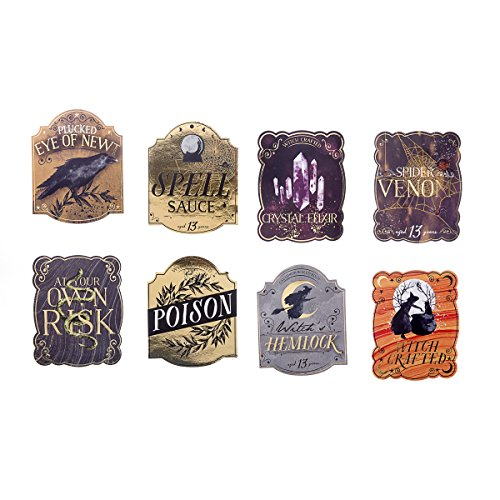 Martha Stewart Luxe Wine Labels with Foil Accents