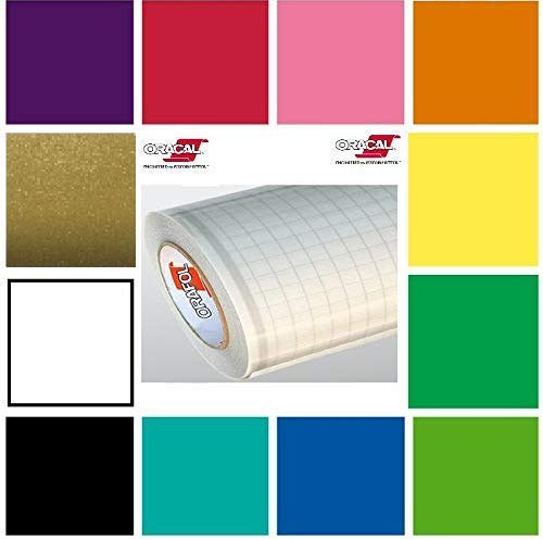 12 Pack of Oracal Glossy 12 Inches by 6 Feet Rolls