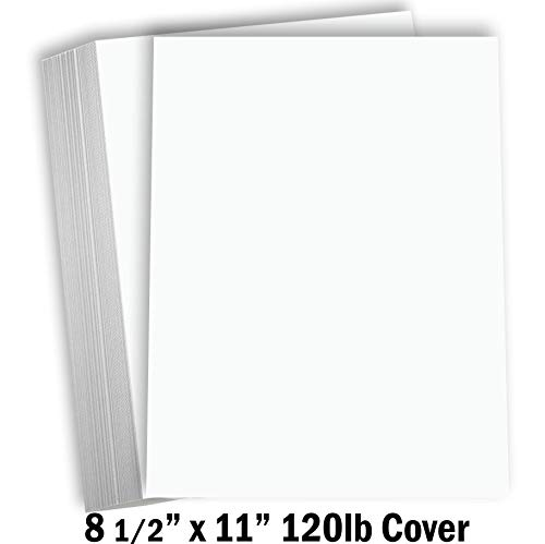 Hamilco White Cardstock Thick Paper 8 1/2 x 11″ Heavy Weight 120 lb Cover Card Stock – 50 Pack