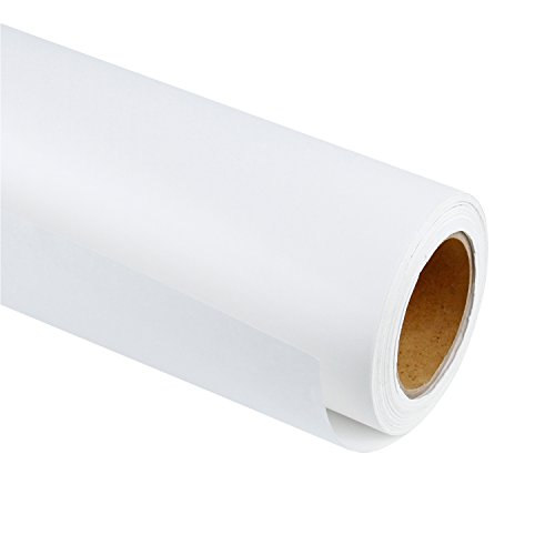 RUSPEPA White Kraft Paper Roll – 36 inch x 100 Feet – Recycled Paper Perfect for Gift Wrapping, Craft, Packing, Floor Covering, Dunnage, Parcel, Table Runner