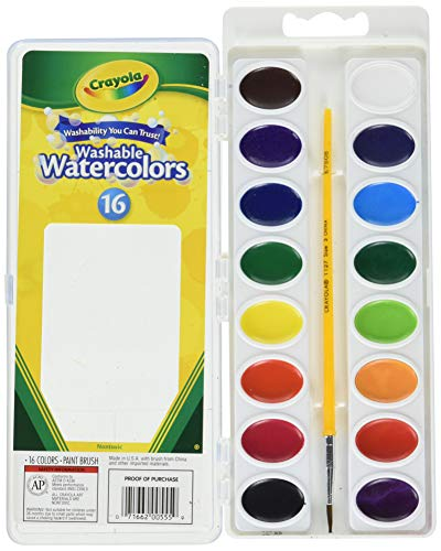 Crayola Washable Watercolors, 16 Count Pack of 2 Total 32 Count