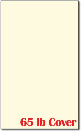 65lb Cover – Cream Colored Cardstock – Perfect for Documents, Programs, Menus, and More! – 250 Sheets Legal Size 8 1/2 X 14 Inches