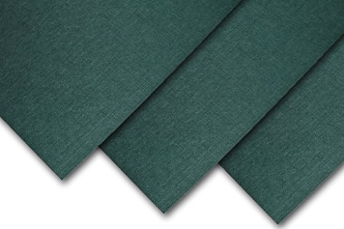 Royal Linen Textured 5″ x 7″ inch 80# Cover Card Stock – 216gsm 30% Recycled Content Emerald, 50 Pack
