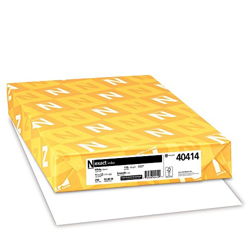 Neenah Paper 40414 Neenah Exact Index, 110 lb, 11 x 17 Inches, 250 Sheets, White, 94 Brightness Renewed
