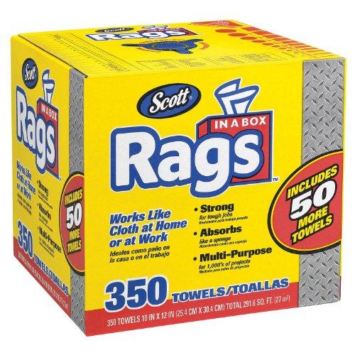 Scott Shop Rags In A Box 350 Sheets