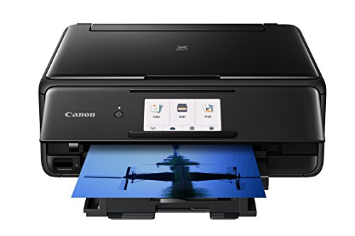 Canon TS8120 Wireless All-In-One Printer with Scanner and Copier: Mobile and Tablet Printing, with AirprintTM and Google Cloud Print compatible, Black