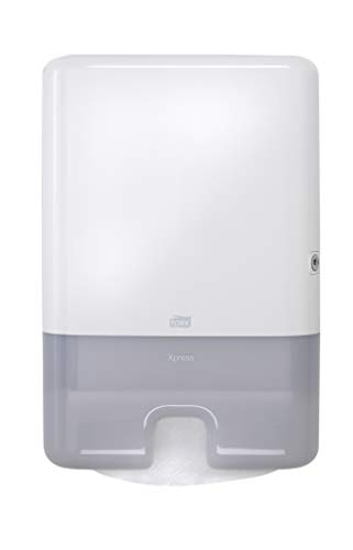 Tork 552020 Elevation Xpress Hand Towel Dispenser, 17.5″ Height x 11.9″ Width x 4.0″ Depth, White Case of 1 Dispenser for use with Tork 100297, 420570, 101293, 424814 and 424864