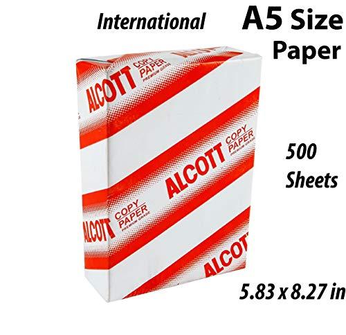 8.3″x 5.83″ – White 500Sheets – 70 gsm / 18lb – Premium A5 pinter copy Paper