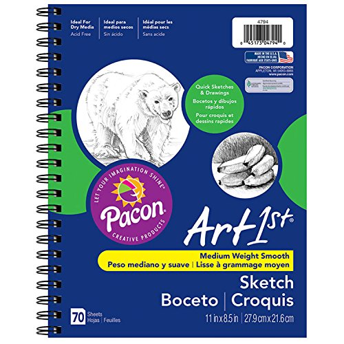 Pacon 4794 Art1st Sketch Diary, 8.5″ x 11″, 70 Sheets