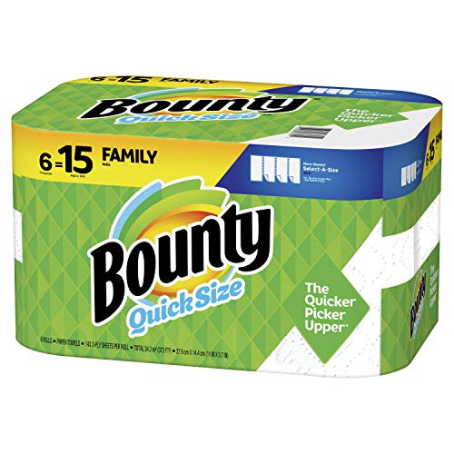 Bounty Quick Size Paper Towels, White, 6 Count