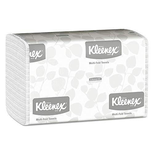 Kleenex Multifold Paper Towels 01890, White, 16 Packs/Case, 150 Tri Fold Paper Towels/Pack, 2,400 Towels/Case