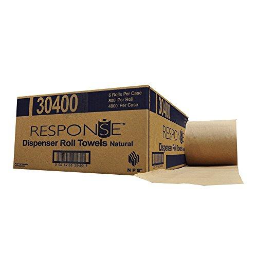 Response 30400 22# Dispenser Hardwound Roll Towel, 800′ Length x 8″ Width, Natural Case of 6