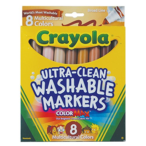 Crayola 8CT Washable Multicultural Colors Conical Tip Markers