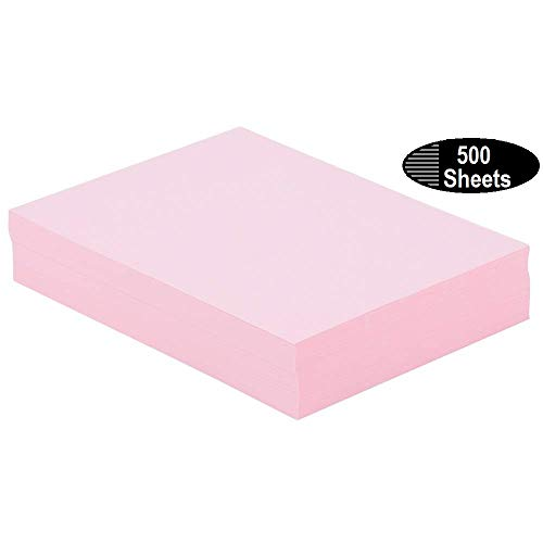 1InTheOffice Colored Copy Paper, Pink, 8.5 x 11 inch Letter Size, 20lb Density, 500 Sheets