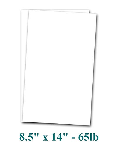 8 1/2 x 14″ Legal Size Card Stock Paper – Premium Smooth 65lb Cover Cardstock – Perfect for Documents, Programs, Menus Printing | 50 Sheets per Pack