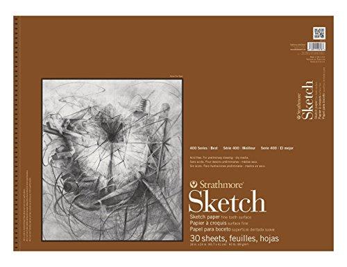Strathmore 455-18 Strath Sketch S 400 18X24 30SHT 60LBS, 18″x24″, 30 Sheets