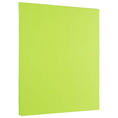 Ultra Lime Green – JAM PAPER Colored 24lb Paper – 50 Sheets/Pack – 8.5 x 11