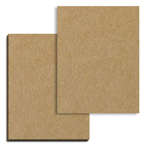 50 Sheets, Brown Kraft Cardstock, 200 GSM 75 lb. Cover, 8.5 x 11 inches