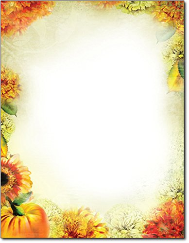 Autumn Foliage Letterhead Printer Paper, 80 sheets