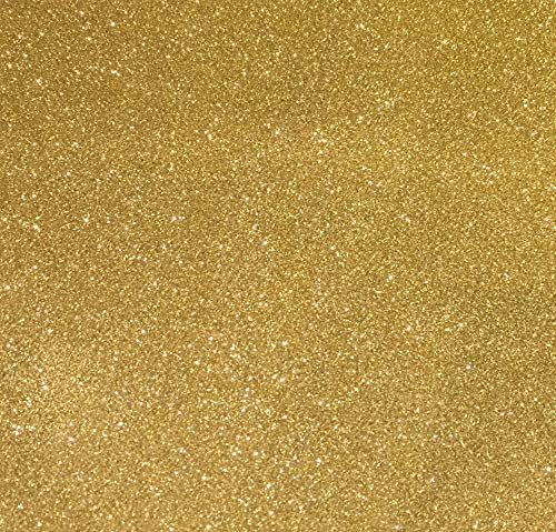 Sized 12″ x 12″ – Gold Glitter Cardstock – 10 Sheets Premium Glitter Paper – Perfect for Scrapbooking, Crafts, Decorations, Weddings