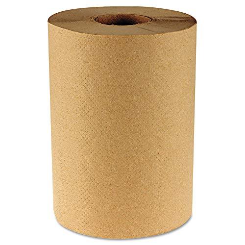 BOARDWALK 6252 Hardwound Paper Towels, 8″ x 350ft, 1-Ply Kraft, 12 Rolls/Carton