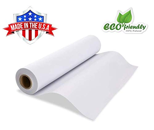 Made in USA White Kraft Paper Wide Jumbo Roll 48″ x 1200″ 100ft Ideal for Gift Wrapping, Art &Craft, Postal, Packing Shipping, Floor Protection, Dunnage, Parcel, Table Runner, 100% Recycled Material