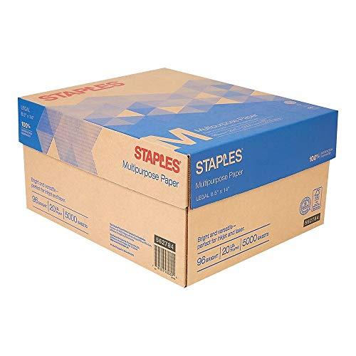 Multipurpose Paper, 8 1/2 in. x 14 In, Case-Staples