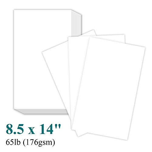 Perfect for Documents, Programs, Menus Printing | 100 Sheets Per Pack – Premium Smooth 65lb Cover Cardstock – 8 1/2 x 14″ Legal Size Card Stock Paper