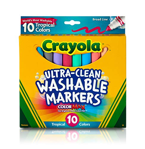 Crayola  Ultraclean BL Tropical Markers 10 Count